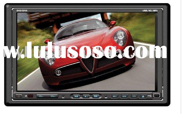 7 inch 2-DIN car DVD disc player with digital touch screen LCD display