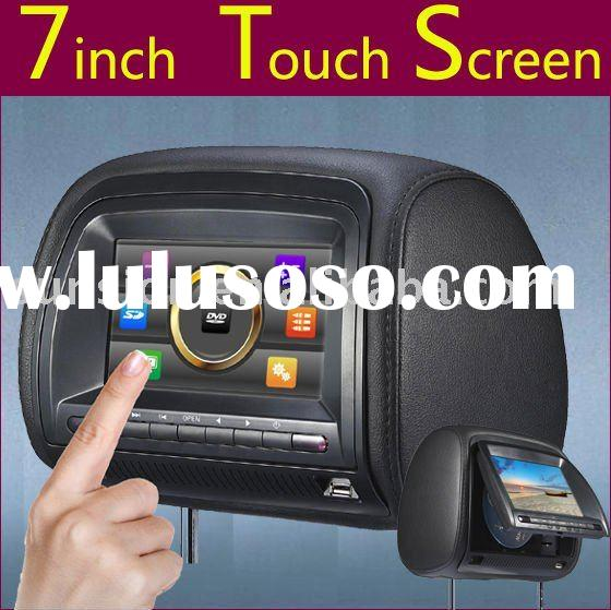 7-inch Touchscreen Headrest DVD Player with Remote Control and Built-in 32-bit Wireless Games