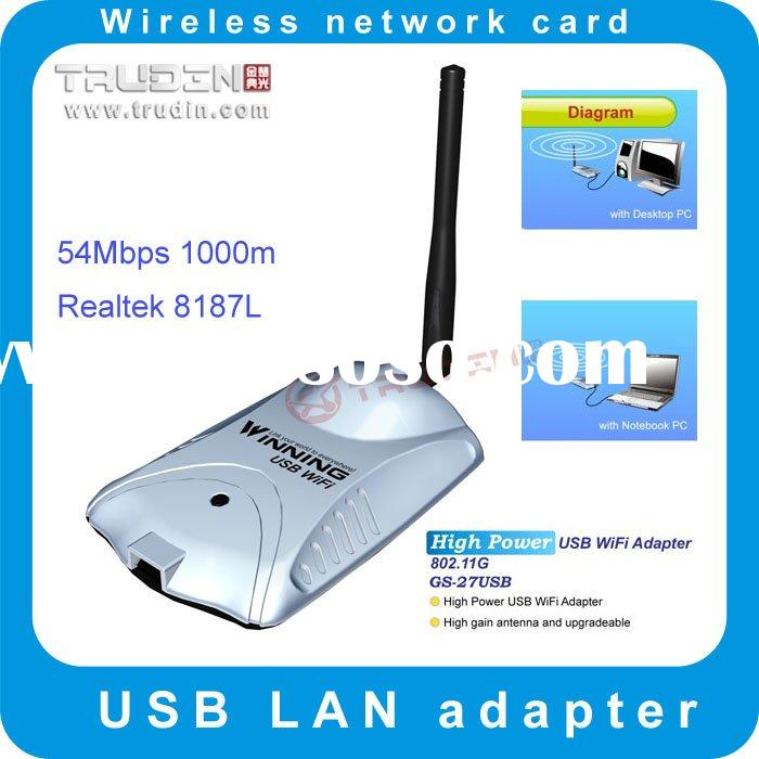 802.11 b/g high power 54Mpbs wireless USB adapter / wireless LAN / wireless Network card