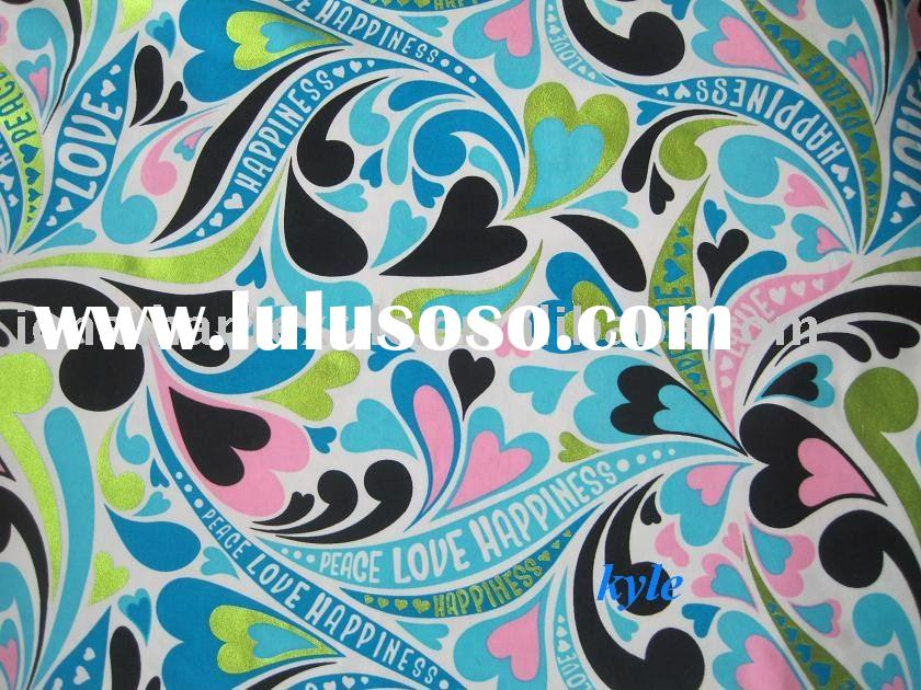 84%/16% nylon/spandex foil and colorful printed swimsuit ,bikini ,underwear fabric manufacturer