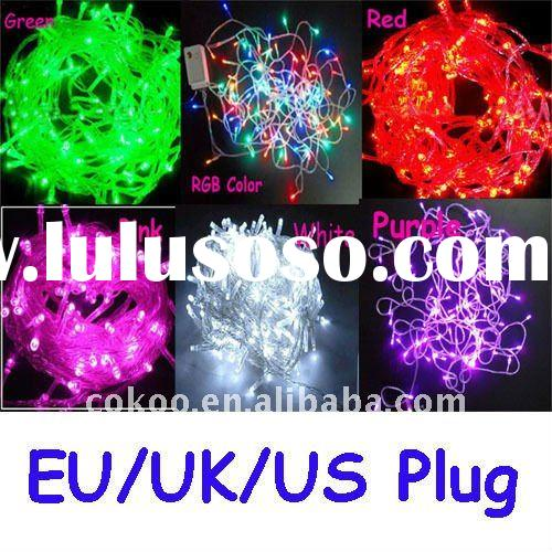 8 Colors 100 LED 10M RGB Color String Fairy Lights Xmas Christmas Party Wedding