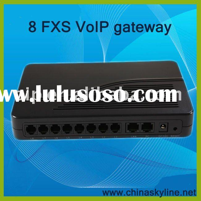 8 ports FXS VoIP Gateway,IP Phone,linksys fxs