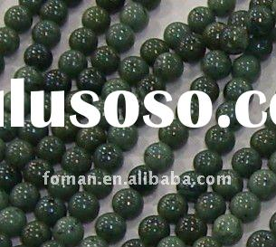8mm round Canadian Jade jewelry beads