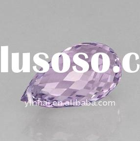 AAA loose cubic zirconia stones, Amethyst CZ pendant briolette with hole