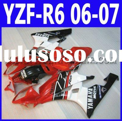 ABS Motorcycle Fairings kit For Yamaha YZF-R6 2006 2007