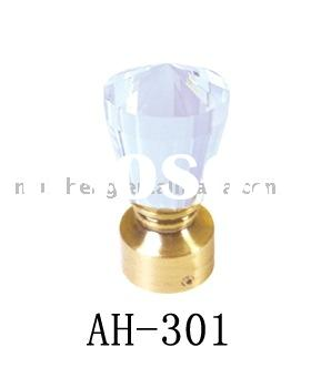 AH-301 crystal curtain rod head,curtain decoration or curtain accessories
