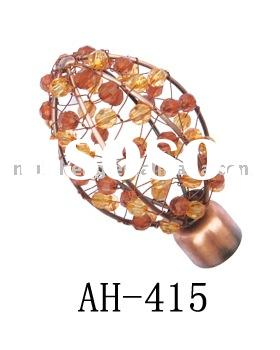 AH-415 artistic curtain rod head,curtain accessories,curtain decoration