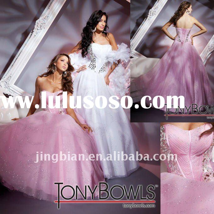A-Line Sweetheart Fashion evening dress 2012 with spark beaded bodices tony bowls evening dresses SH
