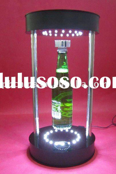 Acrylic Wine Bottle Display,Magnetic Floating Bottle Display,Led Acrylic Wine Rack