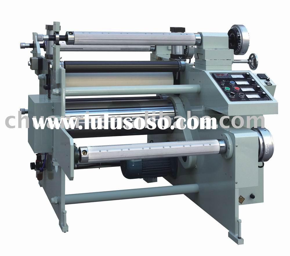 Adhesive Tape And Protector Film Laminating With Slitting Machine