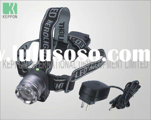 Aluminum Rechargeable LED Headlamp with Alarm Light