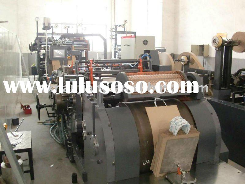 Automatic Paper Bag Making Machine With Paper Handles Inline