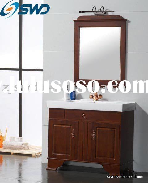 Bathroom Cabinet/Ceramic Basin Oak Wood Series 1101 SWD Sanitary Ware