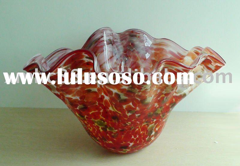 Big decorative glass fruit bowl