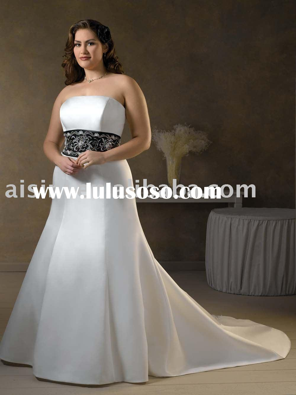 Bonny Bridal, Style 1019 wedding dress, Unforgetable Plus Size A-line Satin wedding gowns