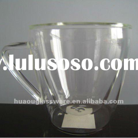 Borosilicate Double Wall glass Cup with Handle