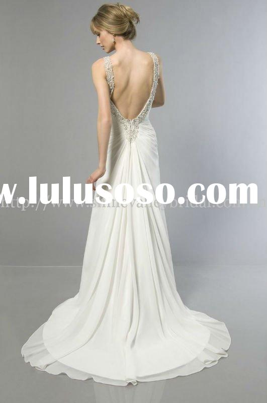 Halter Wedding Dresses With Low Back Low Back Wedding Gown