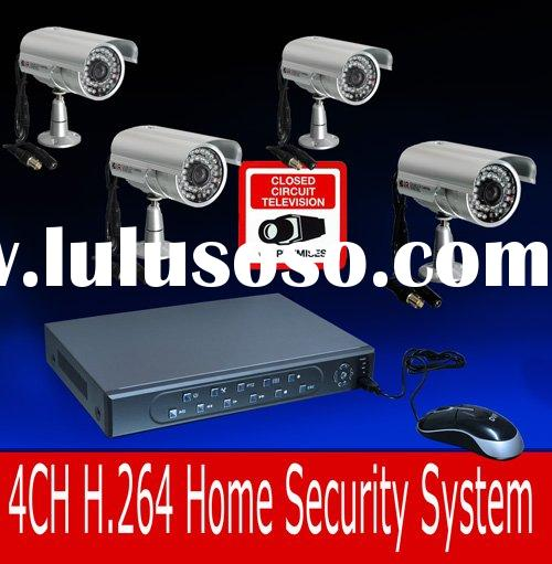 CIF resolution 4CH dvr kit mini security camera