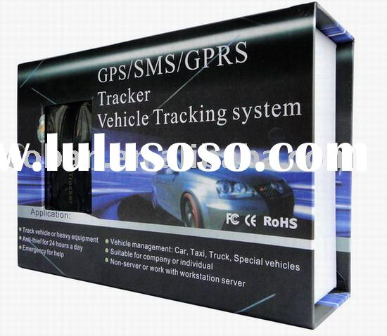 Car GPS tracking device with remote control ,get real address by SMS message