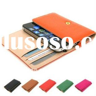 Card Wallet Flip Leather Case Cover for Apple iPhone 4S 4 4G