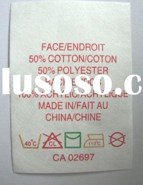 Care label, care instruction label, woven label No.HLP0075
