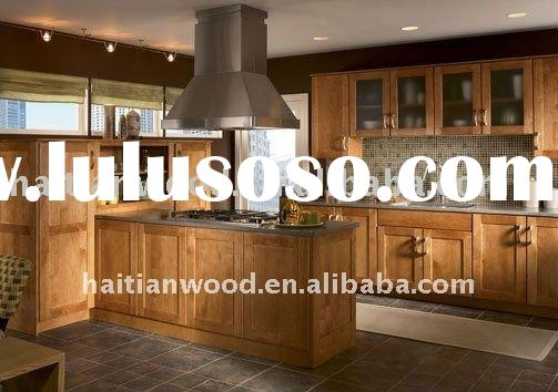China classic style solid wood pantry cabinets for kitchen