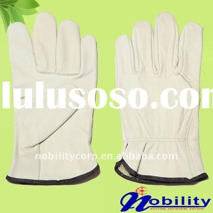 Cow grain leather mens car leather driving gloves