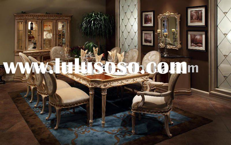D123-42 high quality solid wood classical dining room table