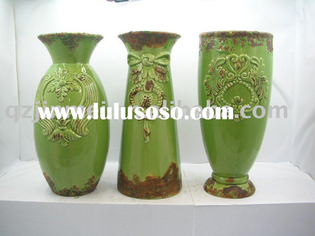 Decorative porcelain vase glazed ceramics