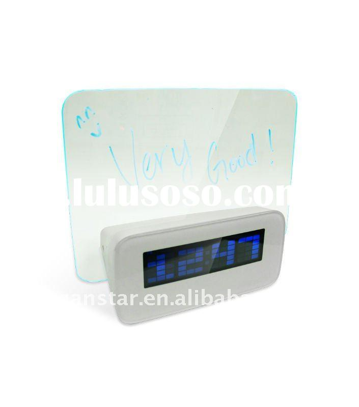 Digital Alarm Clock with Memo Board Color LED Display CK200