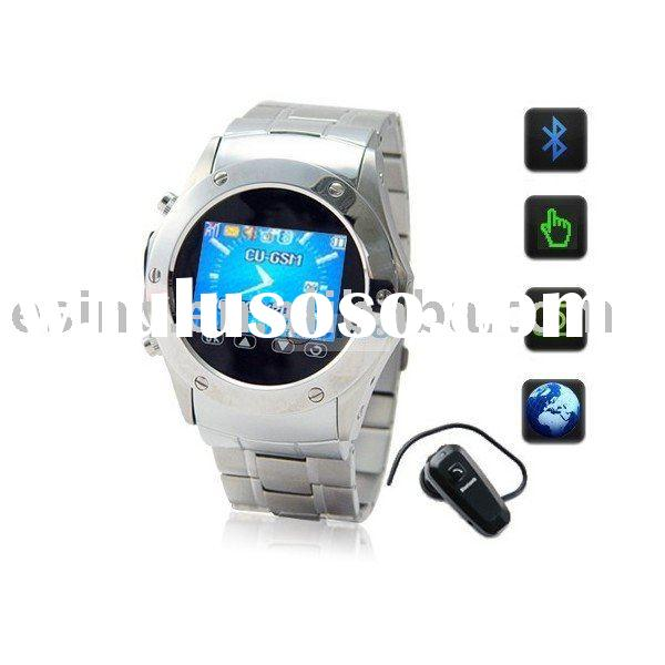 "ES-W968/1.2"" Touch Screen Quadband GSM Cell Phone Watch with Bluetooth Headset"