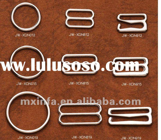Electronic galvanized zinc alloy bra rings and buckles