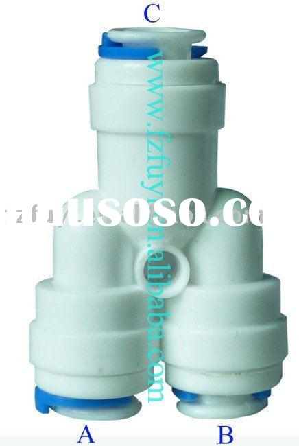 FY008D plastic water purifier parts quick connect fittings