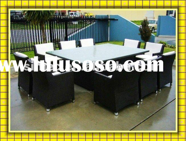 Factory sale at very good price with SGS PE outdoor rattan furniture in high quality for garden and