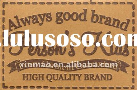 Fashion garment jeans leather label with wonderful design