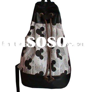 Fashion ladies canvas backpack