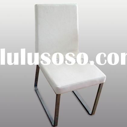 Fashionable Modern Soft Leather and Chrome Dining Chair DC-104