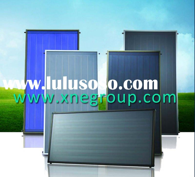 Flat plate solar thermal collector with tinox coating