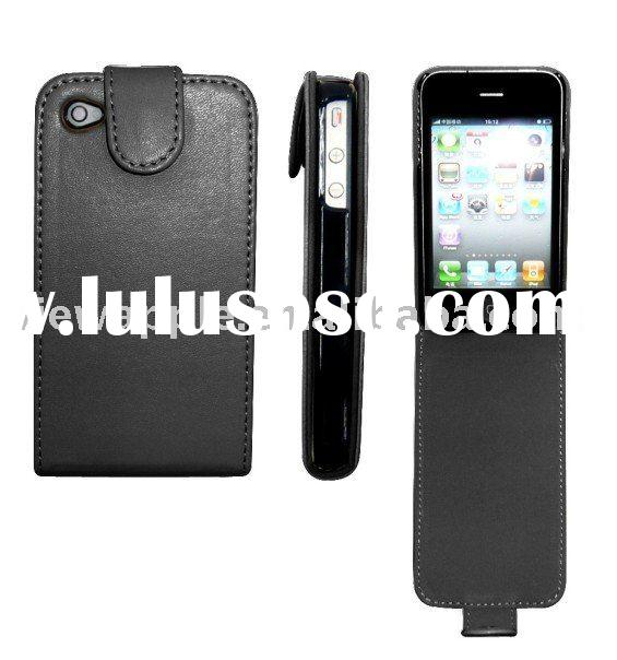 For iphone 4G 4th 4 Flip leather case with magnetic closure