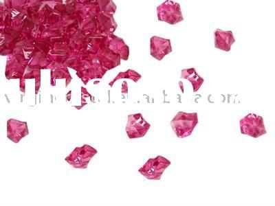 Fuschia Acrylic Ice Cube Wedding Table Scatters