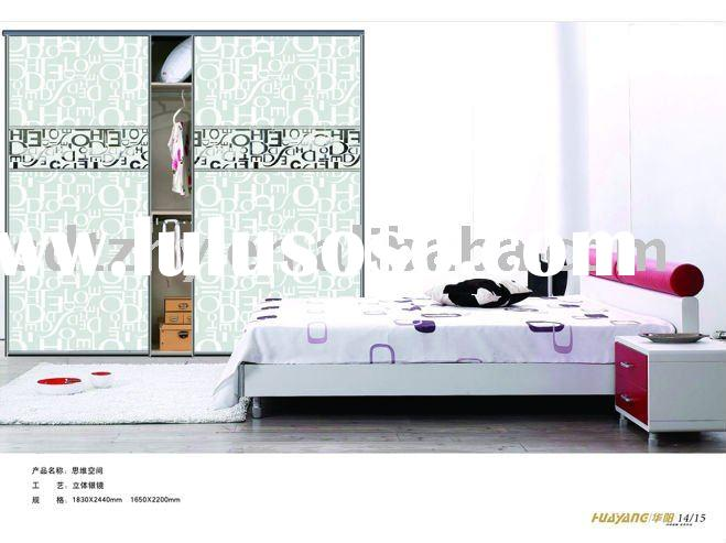 Glass Wardrobe Sliding Door/Paint Coated Glass/Decorative Glass