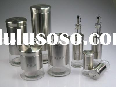 Glass bottles with stainless steel coating