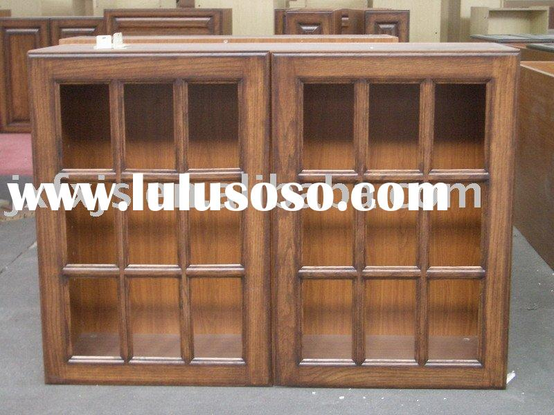 wooden wall cabinets with glass doors 2
