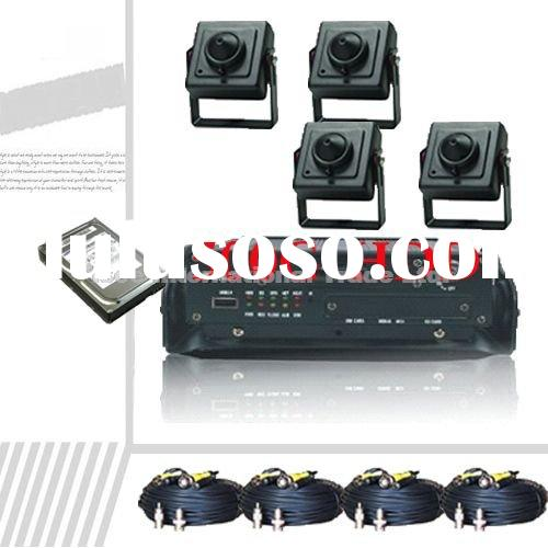 H.264 4 CH Stand Alone DVR CCD mini Camera Security System