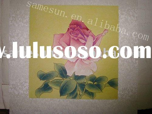 Hand painted Chinese traditional painting of flower