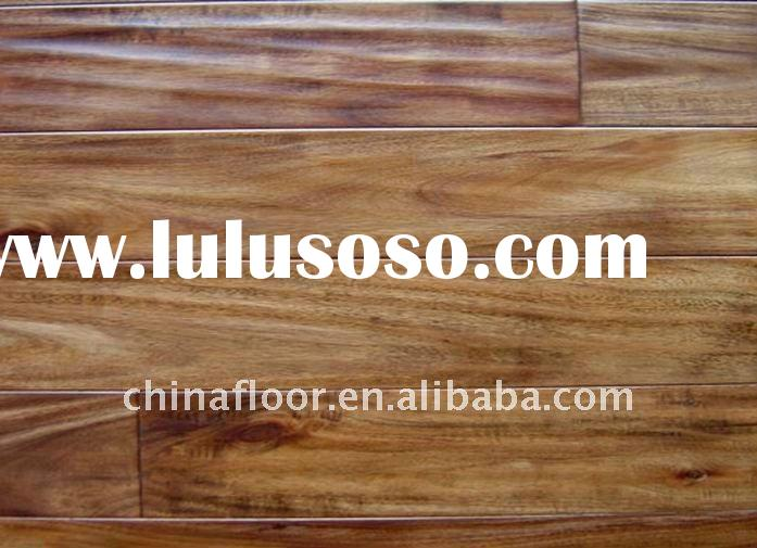 Hand-scraped acacia wooden floor/solid wood flooring
