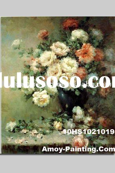 Handmade Oil Painting Flower Picture