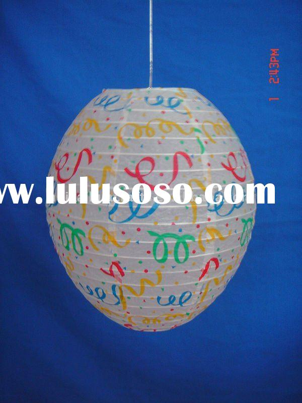 Handmade flower shape paper lamp shade for home decor