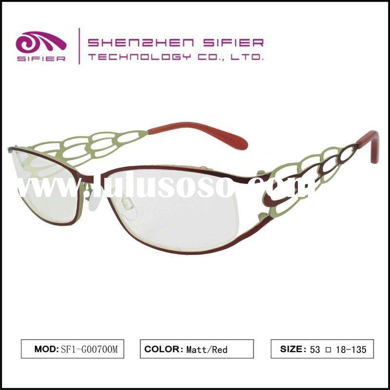 High Quality Trendy Cool Metal Full Frame Lady Optical Frame