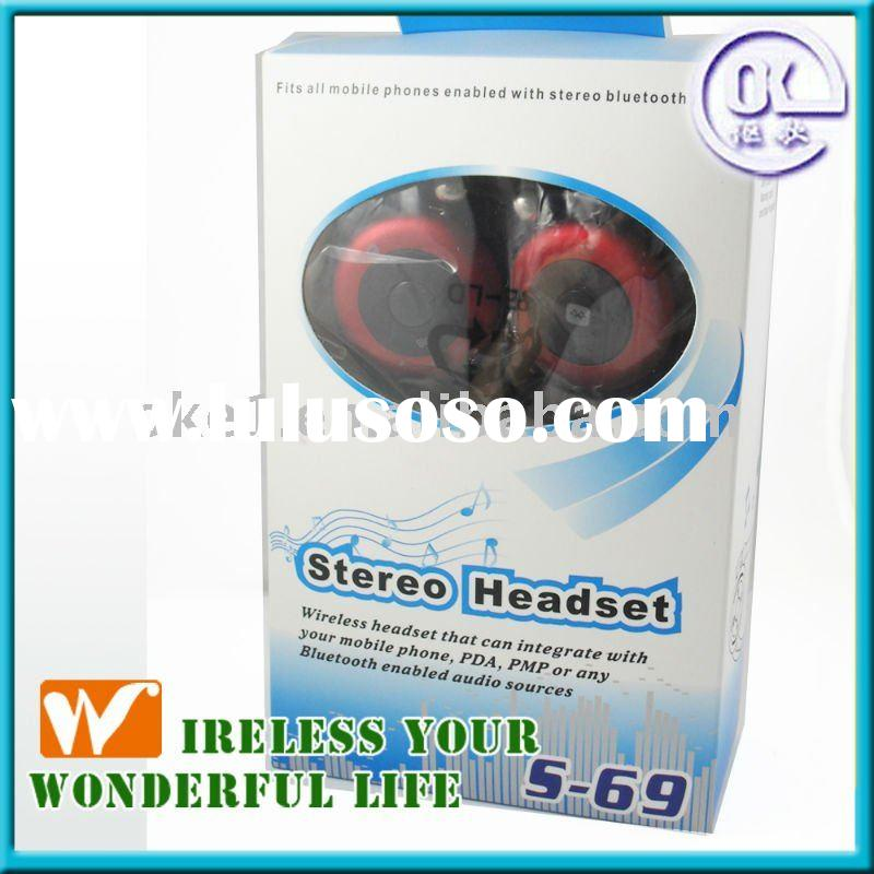 High quality Stereo MP3 Player wireless headset S-69